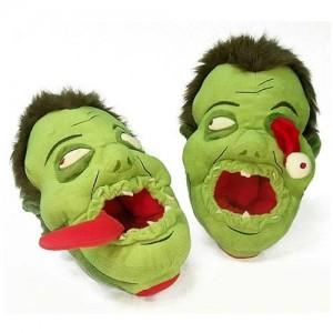 Zapatillas de Peluche Zombies Verde