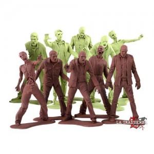 The Walking Dead Pack de 10 Minifiguras Army Men Zombies