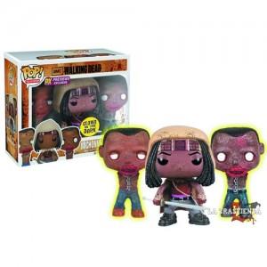 Michonne + Mascotas Zombie Cabezón The Walking Dead Serie 2