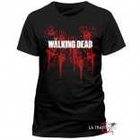 Camiseta The Walking Dead Bloody Hands Logo