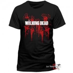 Camiseta The Walking Dead Bloody Hands Logo