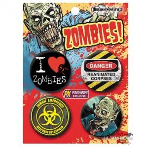 Pack 4 Chapas Zombie