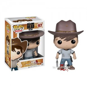 Carl Grimes Cabezón The Walking Dead Serie 4
