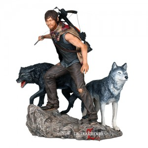 Estatua Daryl Dixon & Lobos The Walking Dead