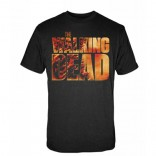 Camiseta Walking Dead Negra Vintage
